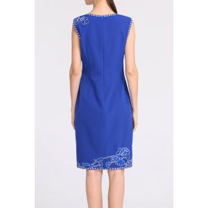 Knee-Length Embroidered Dress -
