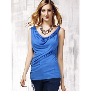 Stylish Women's Scoop Neck Sleeveless Pure Color Tank Top -