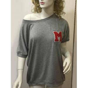Stylish Women's Letter Grey Short Sleeve T-Shirt - Gray - Xl