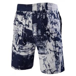 Casual Printed Elastic Waist Board Shorts For Men -
