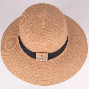 Summer Chic Gothic Cross Black Band Sun-Resistant Straw Hat For Women -