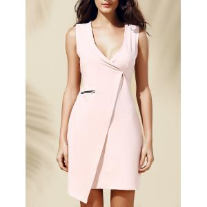 Stylish Plunging Neck Sleeveless Bodycon Dress For Women