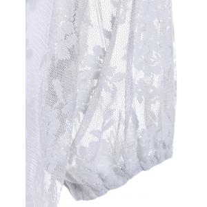 Trendy White Cami Tank and Jewel Collar Short Sleeve Bowknot Lace T-Shirt Twinset For Women -
