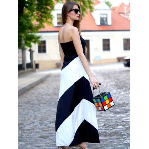 Cute Color Block and Chains Design Women's Tote Bag -