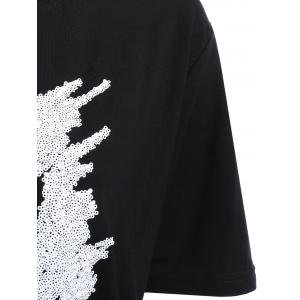 Trendy Round Neck Short Sleeve Embroidered Letter Pattern Women's T-Shirt -