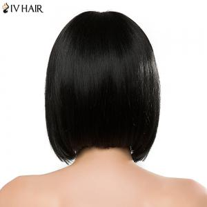 Bob Style Straight Siv Hair Capless Sweet Full Bang Short Real Natural Hair Wig For Women -