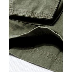 Casual Loose Fit Multi-Pockets Solid Color Cargo Shorts For Men -