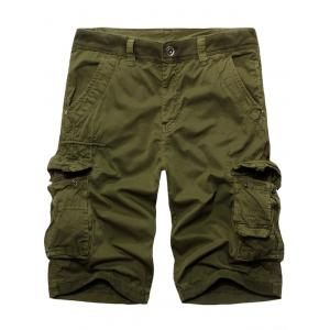 Fashion Solid Color Cargo Shorts For Men