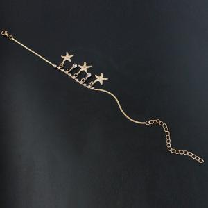 Chic strass Starfish Cheville pour les femmes - Or