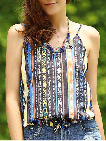 Outfit Ethnic Style Spaghetti Strap Printed Women's Tank Top