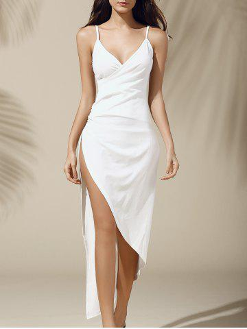 Shop Long Slit Asymmetric Cami Dress