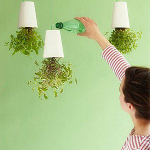 Outfit Inversion Type Flower Pots Plastic Sky Planter For Home Office Decoration