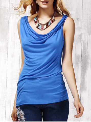 Shops Stylish Women's Scoop Neck Sleeveless Pure Color Tank Top