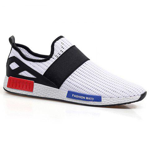 Discount Fashionable Elastic Band and Hit Color Design Casual Shoes For Men