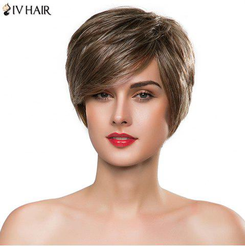 Buy Elegant Side Bang Siv Hair Short Layered Capless Real Human Hair Wig For Women