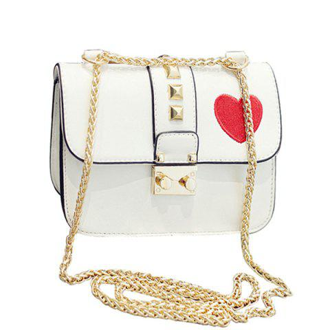 Hot Stylish Chain and Hasp Design Crossbody Bag For Women