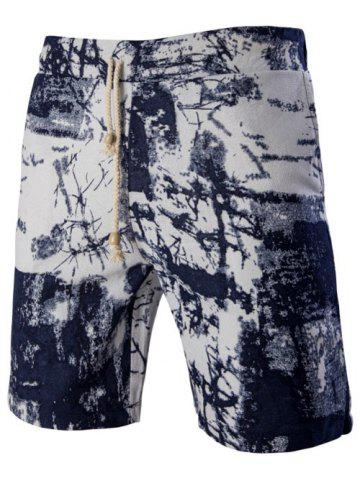 Unique Casual Printed Elastic Waist Board Shorts For Men
