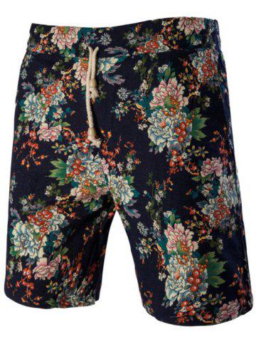Outfits Fashion Plant Printed Elastic Waist Board Shorts For Men