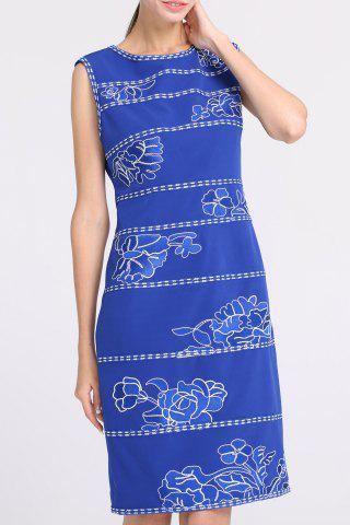 Trendy Knee-Length Embroidered Dress