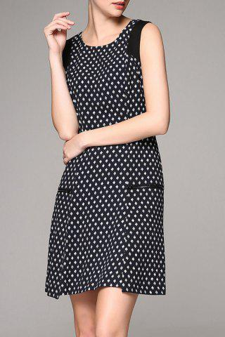 New Elegant Pockets Printed Dress