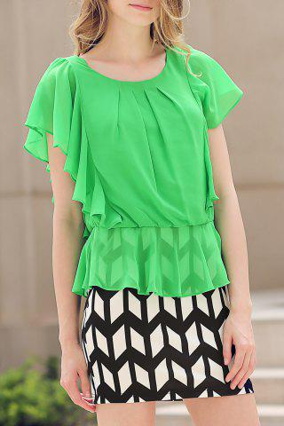Chic Two-Piece Look Ruffle Desss