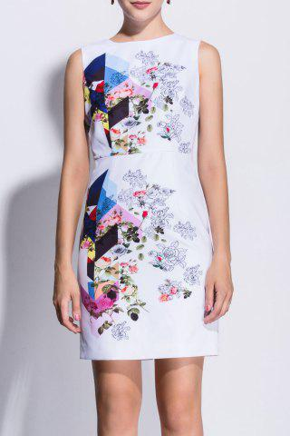 Store Rose Print Sleeveless Bodycon Dress