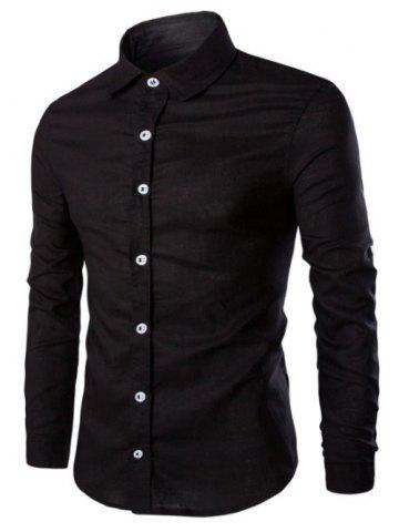 Trendy Casual Solid Color Single Breasted Shirts For Men