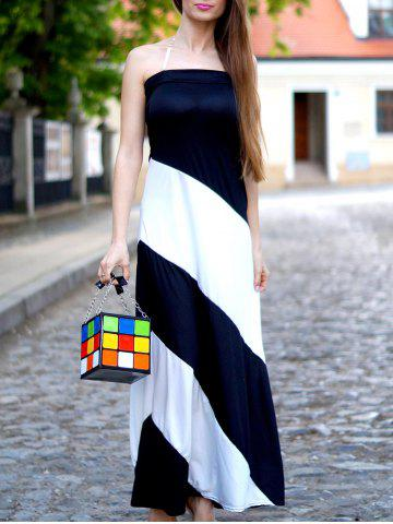 Fancy Cute Color Block and Chains Design Women's Tote Bag