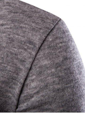 Shop Casual Solid Color Cardigan For Men - M LIGHT GRAY Mobile