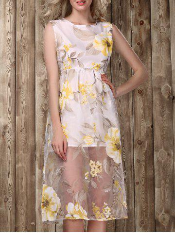 Buy Midi Floral Print Dress GOLDEN S