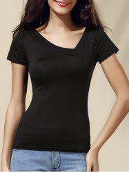 V Back Short Sleeve Slim Tee -