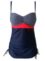 s 'Maillots Chic Plus Size Spaghetti Strap Cut Out Dot Polka Imprimer One-Piece Femmes - Rouge 3XL