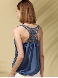 Lace Trim Racerback Tank Top