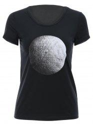 Trendy Round Neck Short Sleeve 3D Print Women's T-Shirt -