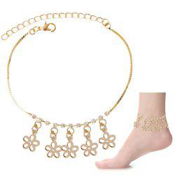 Chic Rhinestone Hollow Out Flower Foot Bracelet -