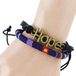 Adjustable Multilayer PU Leather Hope Bracelet