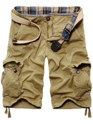 Casual Loose Fit Solid Color Cargo Shorts For Men -