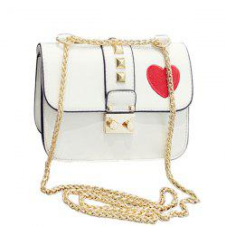 Stylish Chain and Hasp Design Crossbody Bag For Women -