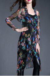 Floral High Low Dress With Cami Dress -