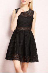 Sleeveless A Line Mini Dress -