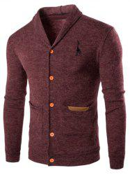 Casual Turn Down Collar Button Up Cardigan -