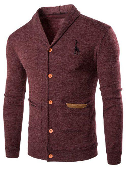 Cheap Casual Turn Down Collar Button Up Cardigan