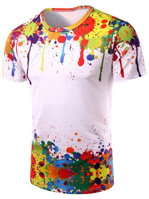 Colormix M 3d Colorful Splatter Paint Short Sleeve T-shirt ...