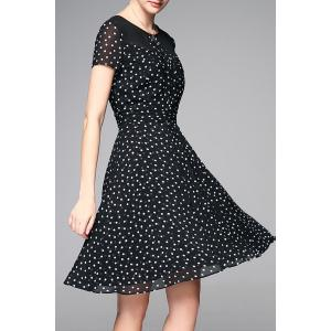 Polka Dot Chiffon Dress -