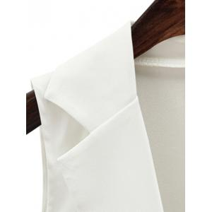 Fashionable Lapel Collar Loose-Fitted One Button Women's Waistcoat - WHITE 3XL