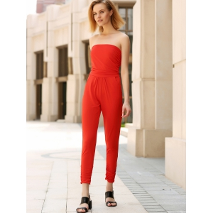 Fitted Strapless Jumpsuit -