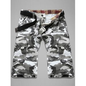 Trendy Loose Fit Men's Multi-Pockets Camo Printed Cargo Shorts