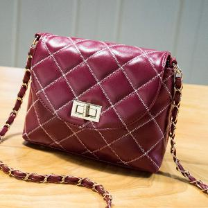 Stylish Hasp and Checked Design Crossbody Bag For Women