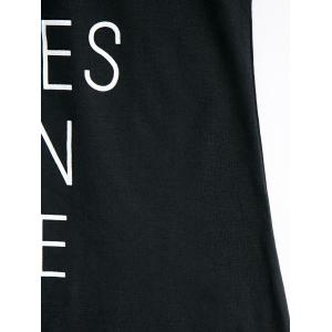 Simple Scoop Neck Sleeveless Letter Print Women's Tank Top -