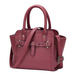 Simple Stitching and Solid Color Design Tote Bag For Women -